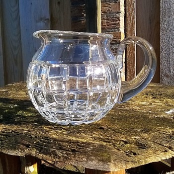 Very Heavy Molded Glass Jug w/Applied Handle Thrift Shop Find 2 Euro ($2.13) - Glassware