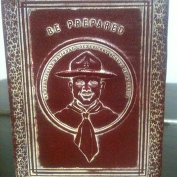 Antique Savings Account Book / Bank for Boy Scouts - Outdoor Sports