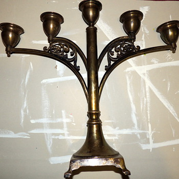 Old Candelabra?  Help Needed - Sterling Silver