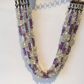 Amerthyst and crystal necklace