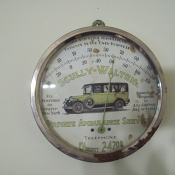 Scully-Walton Private Ambulance Service Thermometer - Advertising
