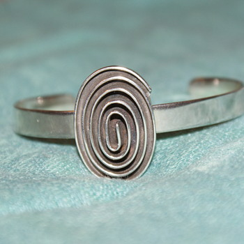 Sterling Silver Modern Bangle - Fine Jewelry