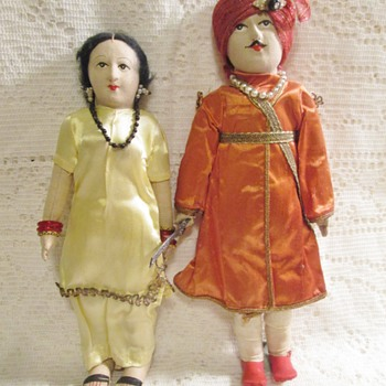 vintage Indian cloth dolls