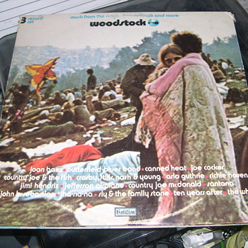 Woodstock Record Album 1970 Cotillion Records SD 3-500 - Records