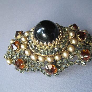 Schreiner Brooch - Costume Jewelry