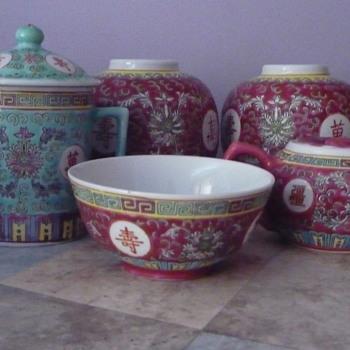 Aisian Tea Set Peices