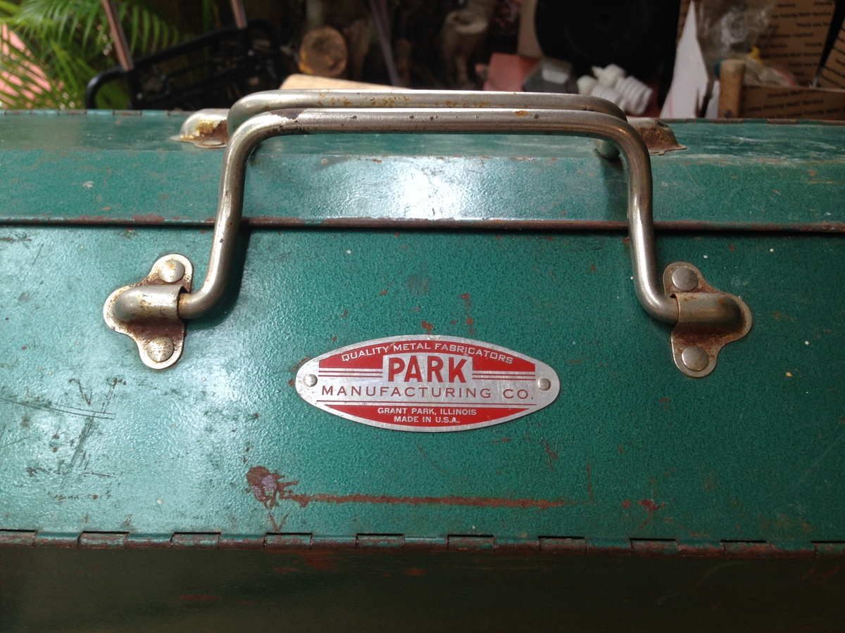 Antique Park Manufacturing Metal Tool Box Collectors Weekly