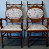Victorian Chairs, pair  oval
