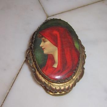 Saint Fabiola Jewelry Casket c 1920's