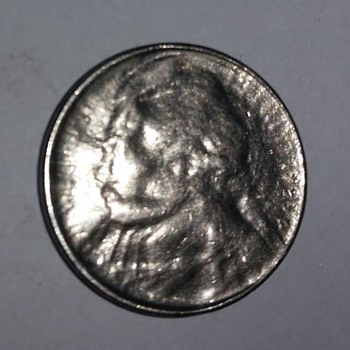 Jefferson Nickel Multiple strike through grease obverse - US Coins