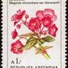 """Argentina - """"Flowers"""" Postage Stamps"""