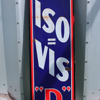 "ISO-VIS ""D"" oil sign"