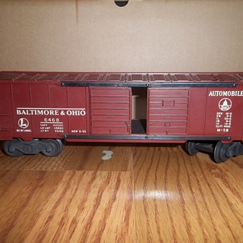 Lionel Trains Collection- Baltimore & Ohio box car #6468 - Model Trains