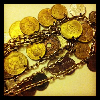 Coin Necklace - World Coins
