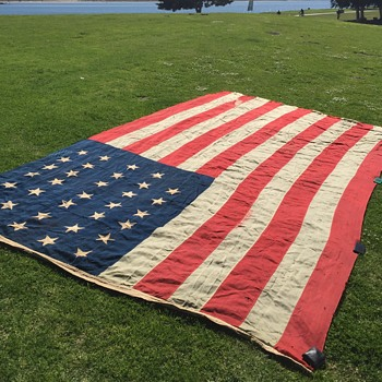 Original 34 Star Civil War Union Flag - Military and Wartime