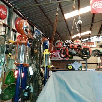 Amazing Collection of vintage gas pumps and signage