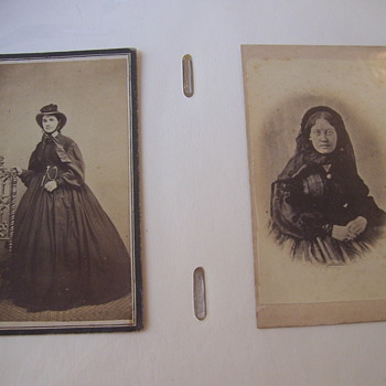 FROM MY ALBUM, 2 CIVIL WAR LADIES, IN MOURNING!  POIGNANT.  WAR IS HELL! - Photographs