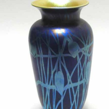 Victor Durand Heart & Vine Vase c.1925 - Art Glass