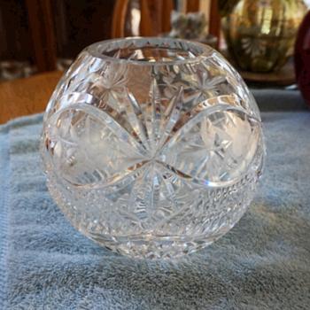 Crystal Round Vase