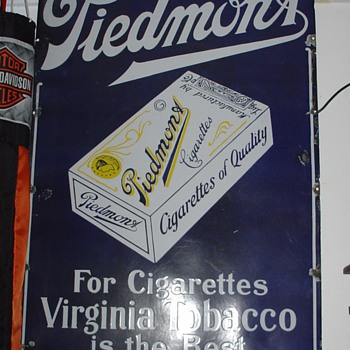 Piedmont Tobacco...Porcelain Sign...Three Colors - Tobacciana