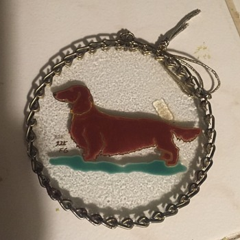 Dachsund painting on glass