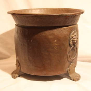 Antique Copper Pot & Bronze Hardware