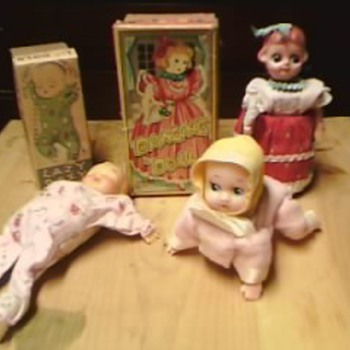 Collection of 1950's Crawling baby toys - Dolls