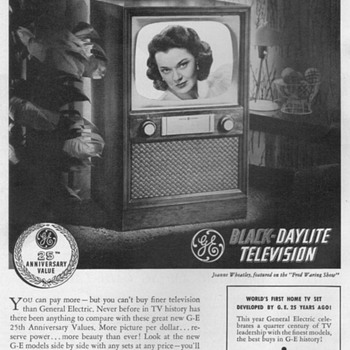 1952 - Gen. Elec. Model 20C105 Console TV Advertisements