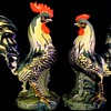 MAJESTIC ROOSTER AND HEN