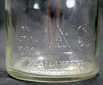 Vintage Original 1930 S Duraglas Master Mfg 1 Quart Glass