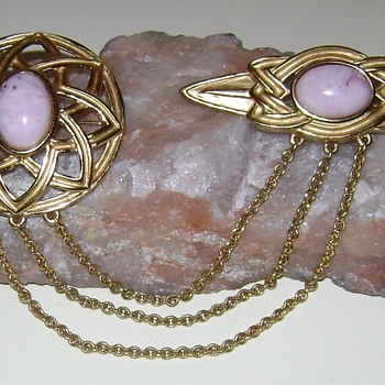 Monet Double Brooch - Costume Jewelry