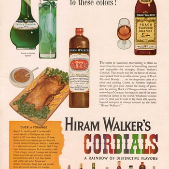 1954 Hiram Walker Cordials Advertisement - Advertising