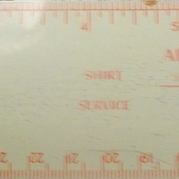 Dry cleaners give-away ruler?