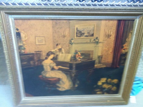 Girl Playing Piano Painting | Collectors Weekly
