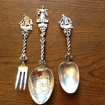 Decorative silver utensils