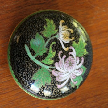 Lidded Cloisonné Dish - Asian