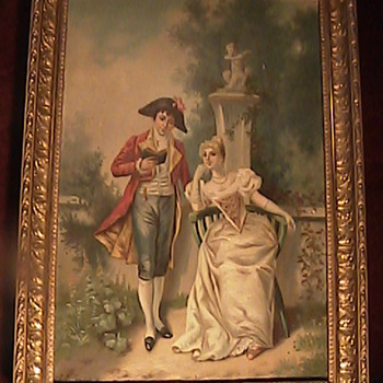Napoleon & Josephine Oil on Canvas by Tuscano 19th Century  - Posters and Prints
