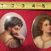 KPM? Or KPM style pair of superb quality miniature paintings on porcelain oval plaque.