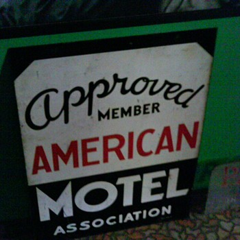 cool vintage american motel guide sign