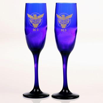 Continental DC 3 Champagne Glasses - Glassware