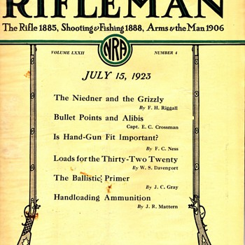 1923 The American Rifleman   1st Year Published - Outdoor Sports