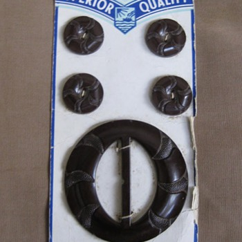 Superior Quality bakelite button and buckle set - Sewing