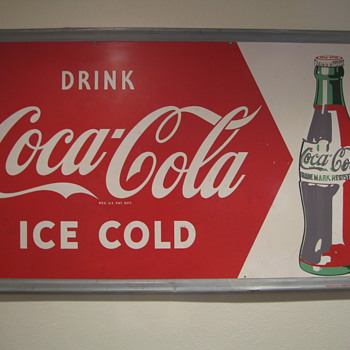 Unfinshed Coca Cola sign
