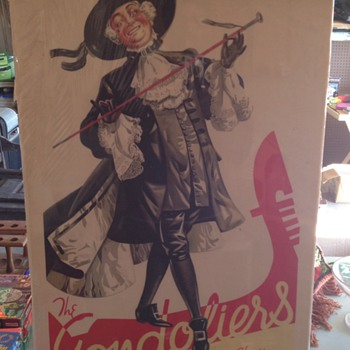Vintage Gondilers Theater Billboard Poster ink. Year