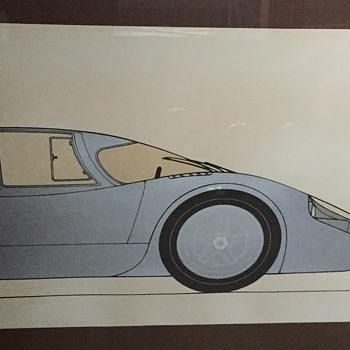Car lithograph from 1970?