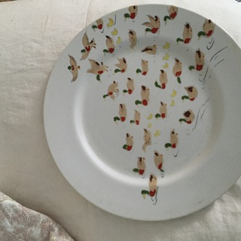 The Ducks -- a plate with lots mallards and ducklings