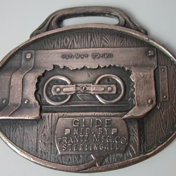Frantz Mfg Glide Barn Door Hanger Watch Fob.