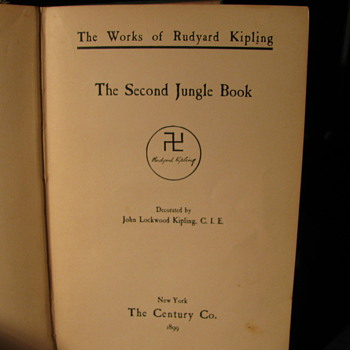 1899 Rudyard Kipling &quot;The Second Jungle Book&quot; with illustrations - Books