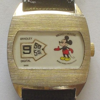 1976 Bradley Jump-Hour Mickey - Wristwatches