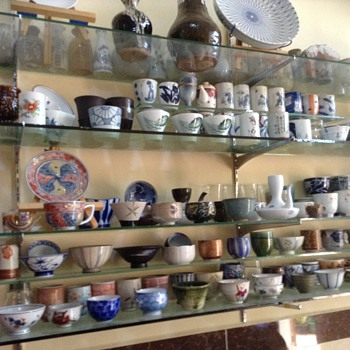 Sake - Tea - Bowl cup and various other items.  See how many styles you can pick out? - Asian